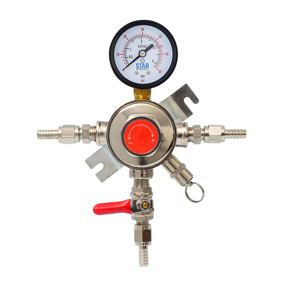 Draft Beer Secondary Co2 Pressure Regulator! Individually Control 1-4 Kegs!-Home & Garden:Food & Beverages:Beer & Wine Making-Star Beverage Supply Co.