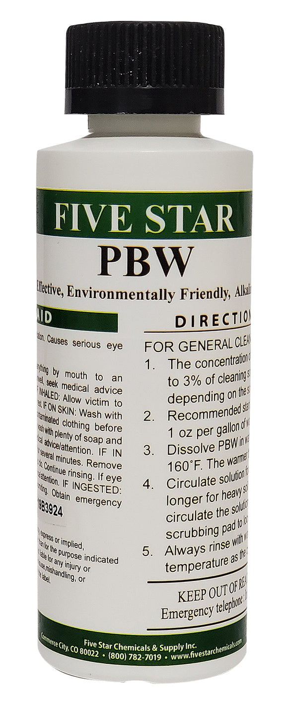 Five Star PBW Powdered Brewery Wash Non-Caustic Beer Equipment Cleanser 120g