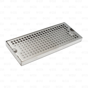 "12"" x 5"" Stainless Steel Beer Kegerator Surface Tower Drip Tray Removable Grate"