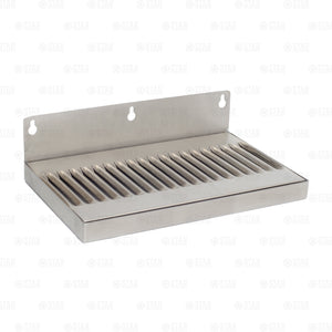 "12"" Stainless Steel Hanging Drip Tray For Kegerator or Keezer Removable Grate"