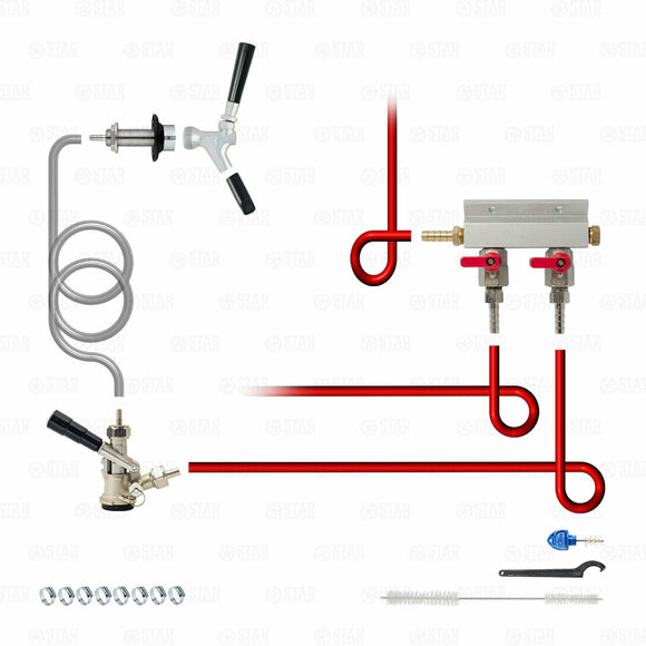 Add-A-Tap Kit! Everything you need to add a Faucet to Your Kegerator or Keezer-Home & Garden:Food & Beverages:Beer & Wine Making-Star Beverage Supply Co.