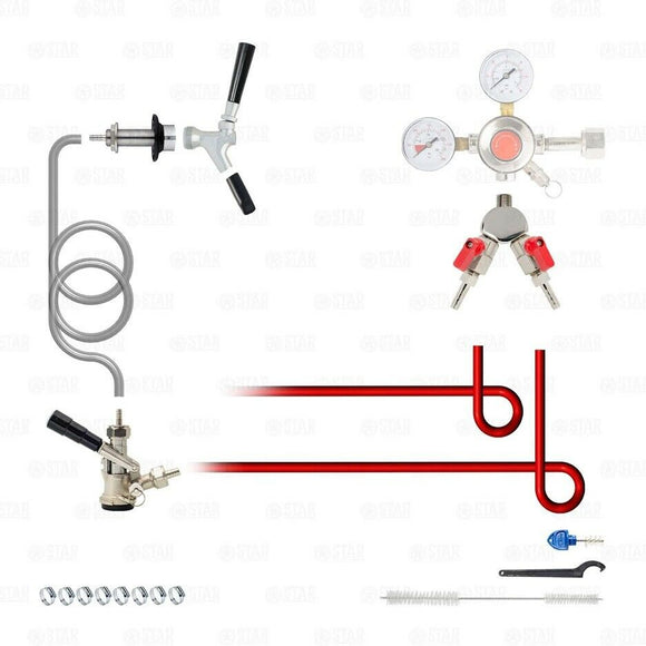 Add A Tap Kit! Add a Sanke D Tap Faucet to your Beer Kegerator or Keezer!-Star Beverage Supply Co.
