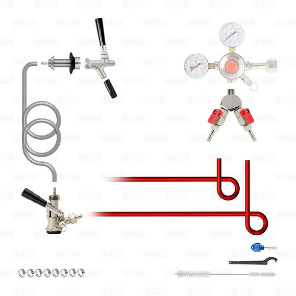 Add A Tap Kit! Add a STAINLESS Sanke D Tap Faucet to a Beer Kegerator or Keezer!-Star Beverage Supply Co.
