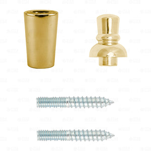 Beer Tap Handle Repair Kit! Brass Gold Ferrule Top Finial X2 Sided Hanger Bolts
