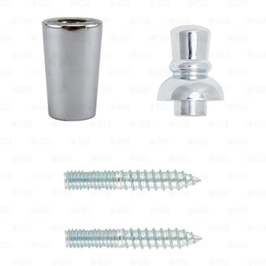 Beer Tap Handle Repair Kit! Chrome Ferrule, Top Finial, Two 2 Sided Hanger Bolts-Collectibles:Breweriana, Beer:Tap Handles, Knobs:Other Beer Tap Handles, Knobs-Star Beverage Supply Co.
