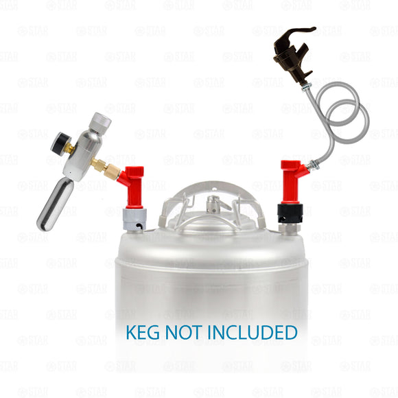 Pin Lock Corny Keg Portable Dispensing Kit Mini Co2 Regulator + Picnic Faucet