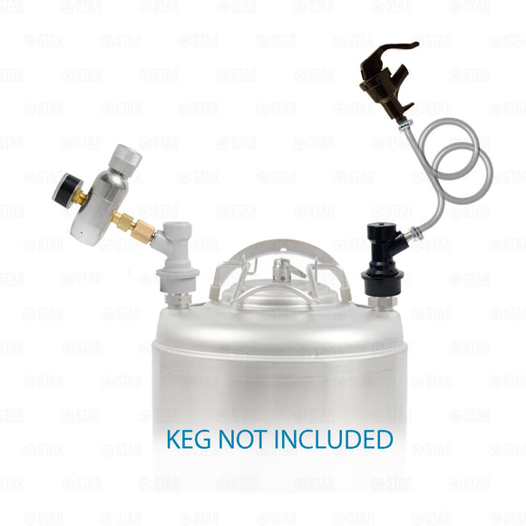 Ball Lock Corny Keg Portable Dispensing Kit Mini Co2 Regulator + Picnic Faucet-Business & Industrial:Restaurant & Food Service:Bar & Beverage Equipment:Draft Beer Dispensing:Keg Pumps-Star Beverage Supply Co.