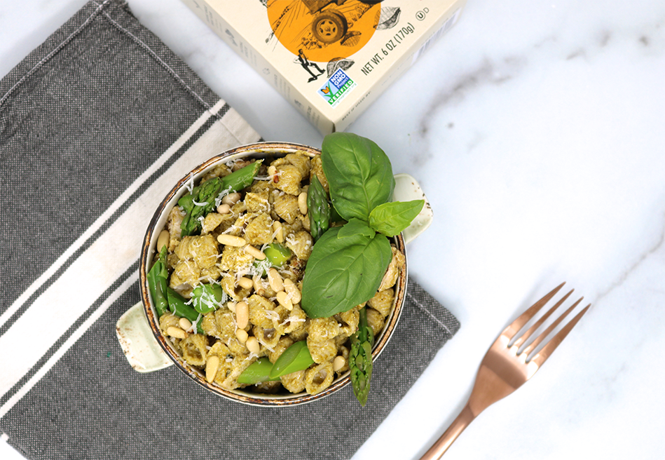 Chicken, Asparagus and Pesto Mac