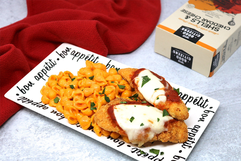 Chicken Parmesan Macaroni and Cheese