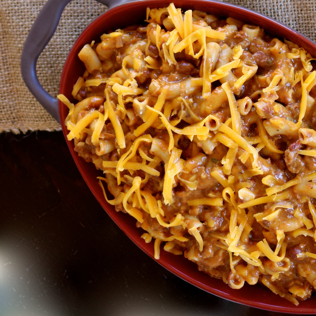 CHILI MACARONI & CHEESE