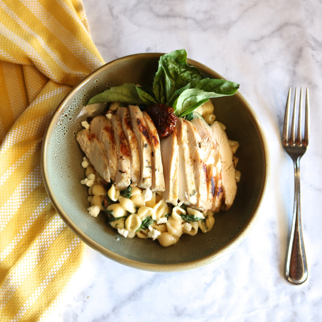 Tuscan Chicken Mac Recipe with Good Citizens White Cheddar Mac and Cheese