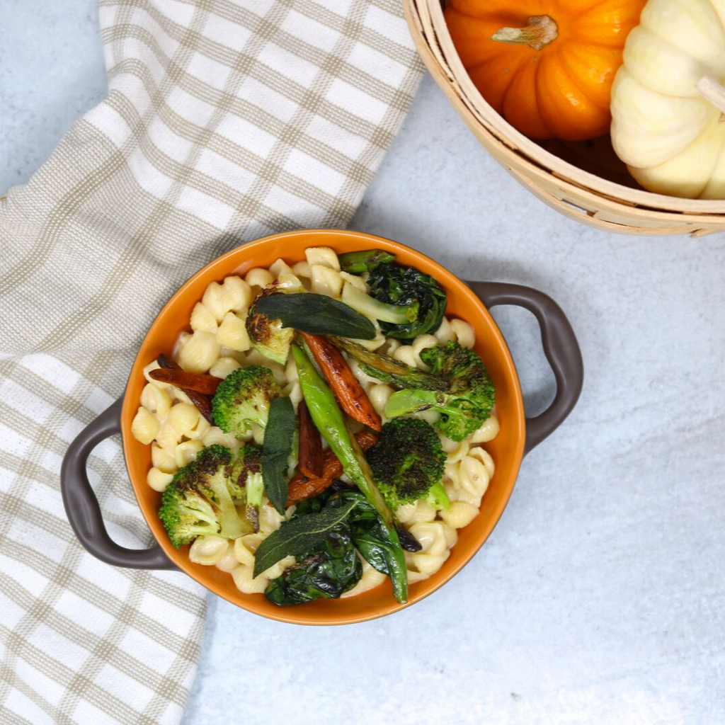 Fall Vegetable Macaroni & Cheese with Good Citizens White Cheddar and Shells