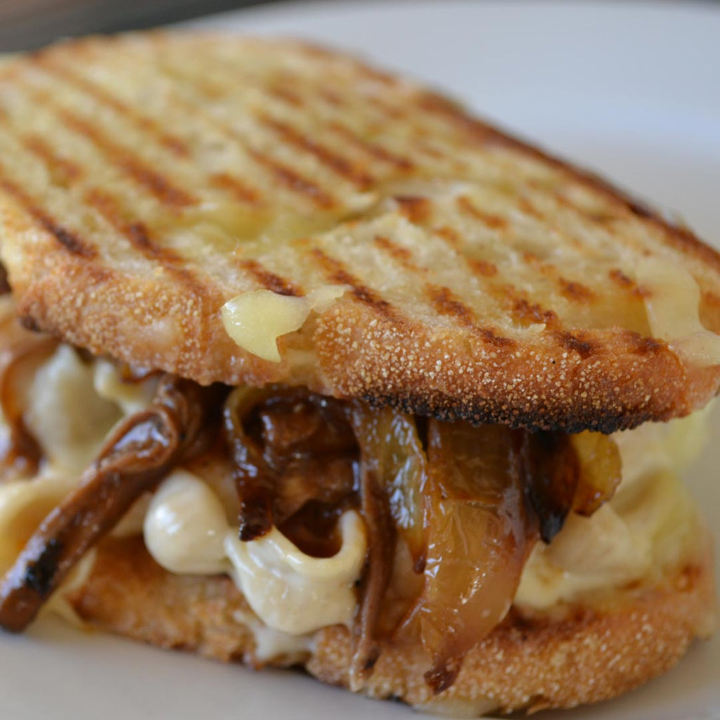 SHORT RIBS AND CARAMELIZED SHALLOT PANINI