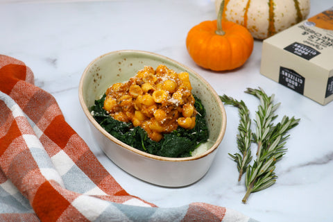 Pumpkin Shells & Cheddar with Garlic Spinach with Good Citizens Cheddar Mac