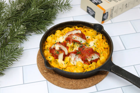 Baked Meatball with Good Citizens Macaroni & Cheese