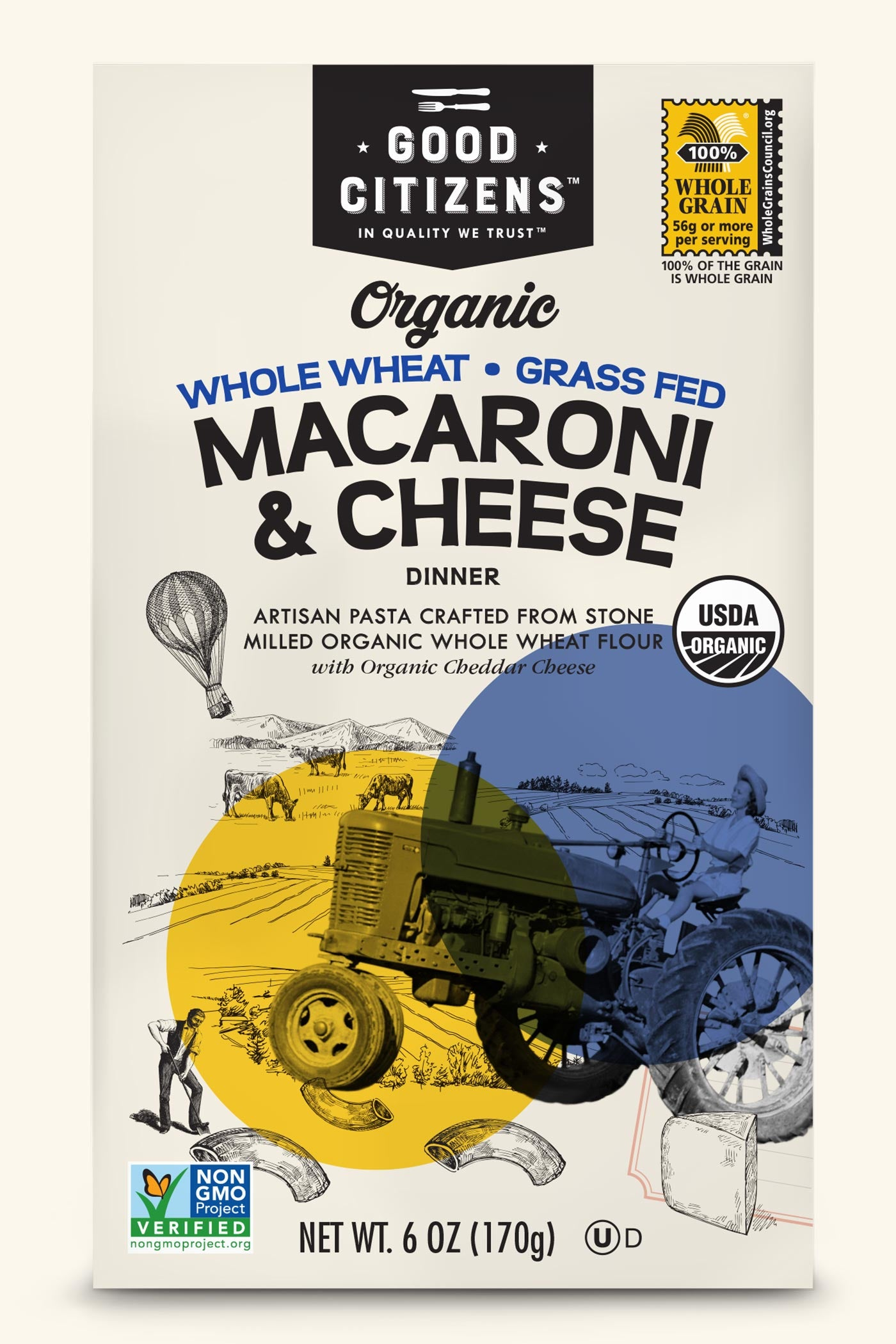 ORGANIC WHOLE WHEAT MACARONI & CHEESE
