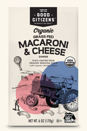 ORGANIC GRASS FED MACARONI & CHEESE
