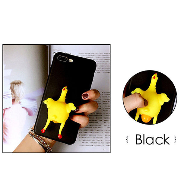 size 40 bcd02 ebaeb 3D Squishy Chicken iPhone Case - Soft Rubber Case