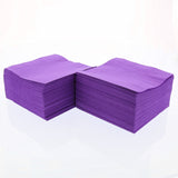 Purple Beverage Napkins Stacked