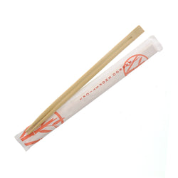 Twin Bamboo Chopsticks with Closed Sleeve