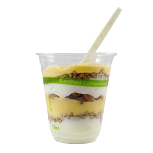 Parfait in a 12 oz. Clear PLA Compostable Cup