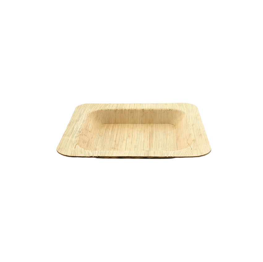 "4.75"" Square Bamboo Leaf Cocktail Plate"