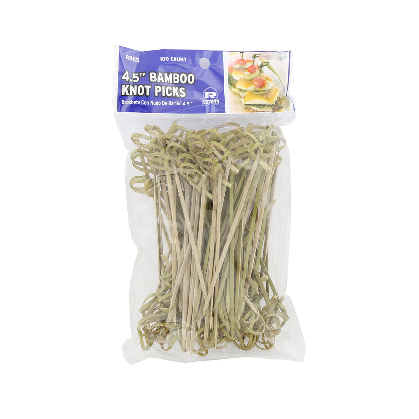 "4.5"" Bamboo Knot Picks, Package of 100"