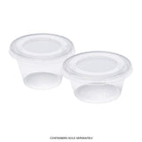 CPCL-34 - 3.25 to 4 oz. PLA Clear Portion Cup Lids Sample