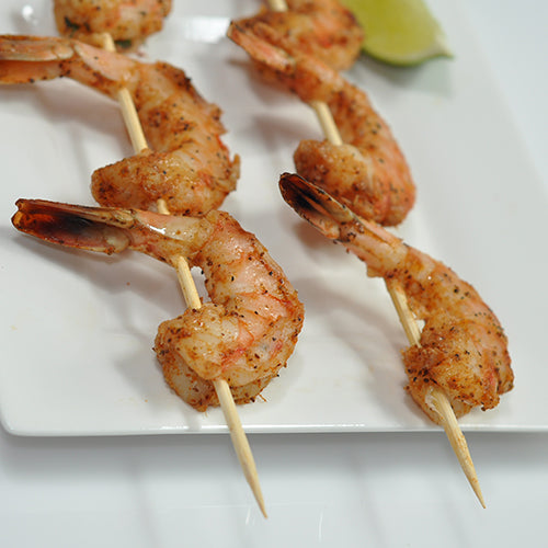 "8"" Round Bamboo Skewers with Shrimp"