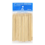 "4"" Round Bamboo Skewers, Package of 100"