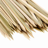 "10"" Flat Bamboo Skewers Closeup"