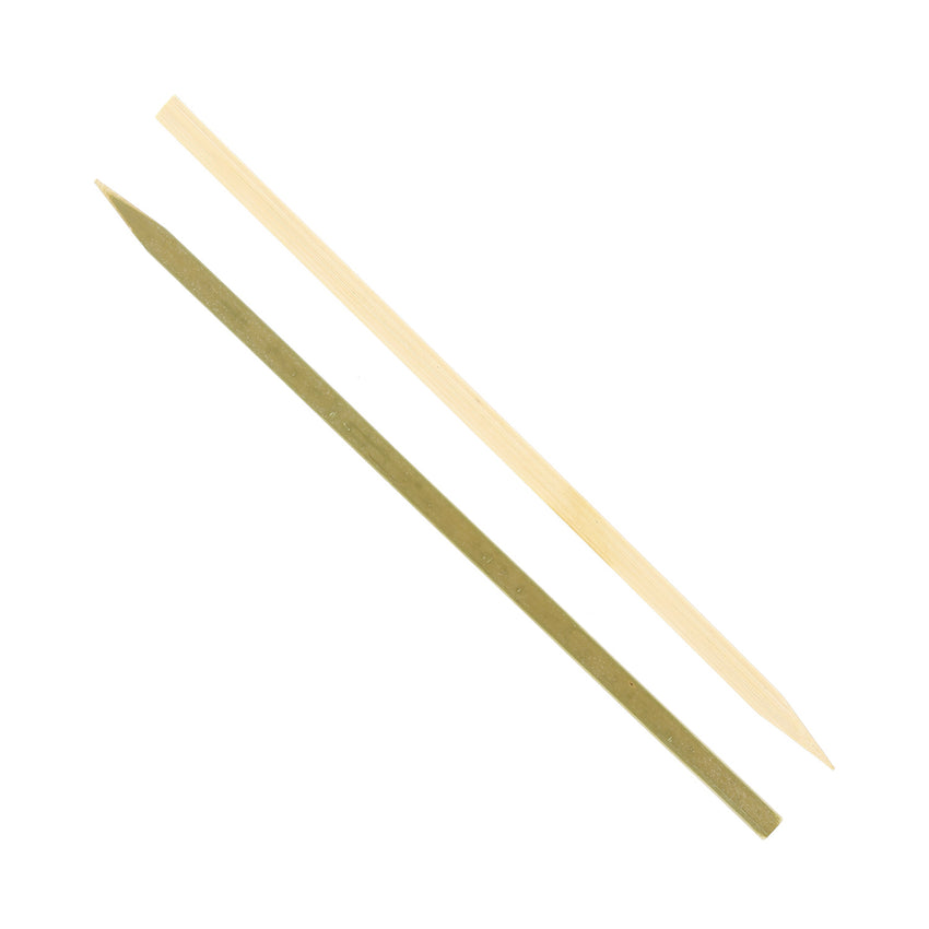 "7"" Flat Bamboo Skewers - Front and Back"