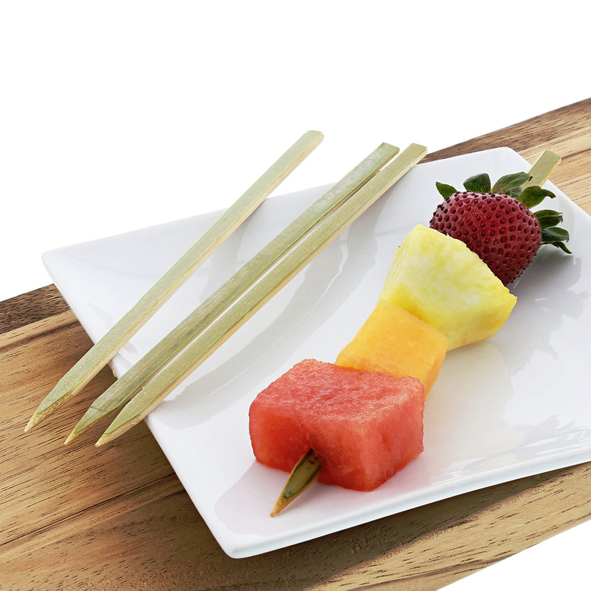"7"" Flat Bamboo Skewers with Fruit"