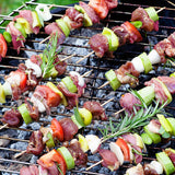 "5.9"" Wooden Skewers with Chamfer Edge on Barbecue"