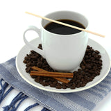 "7"" Bamboo Coffee Stirrer with Coffee"