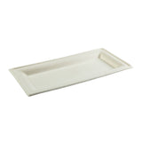 "10"" x 5"" Heavy Molded Rectangle Fiber Plate"