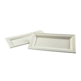 "10"" x 5"" Heavy Molded Rectangle Fiber Plates"