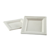 "DP-66 - 6"" Square Heavy Molded Fiber Plates Sample"