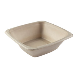 DPT-24B - 24 oz. Square Tan Bowls Sample