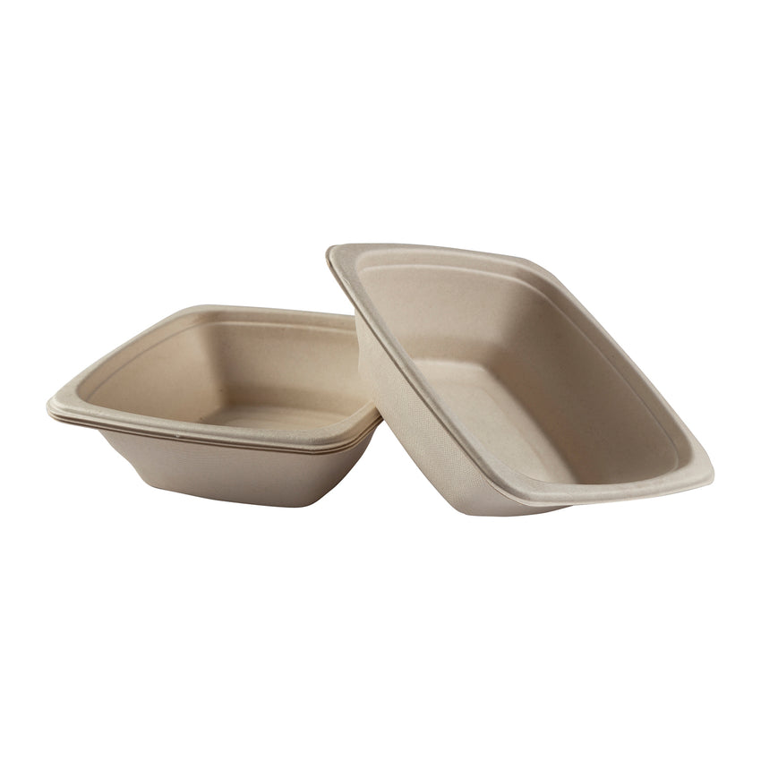 24 oz. Square Tan Bowls