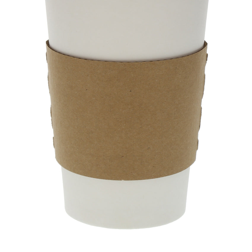 Envirolines Kraft Hot Cup Sleeve on Coffee Cup - Close-up