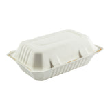 Hoagie Molded Fiber Hinged Lid Containers, Case of 250