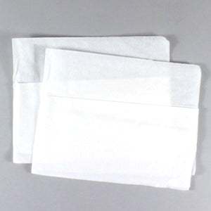 "1 Ply White 13"" x 12"" Mini Fold Embossed Napkins, Case of 6,000"