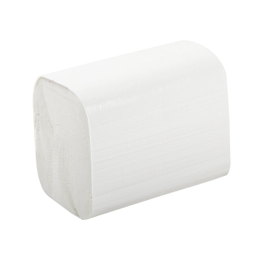 "2 Ply White 7.8"" x 6.25"" Interfold Embossed Napkins, Case of 6,000"