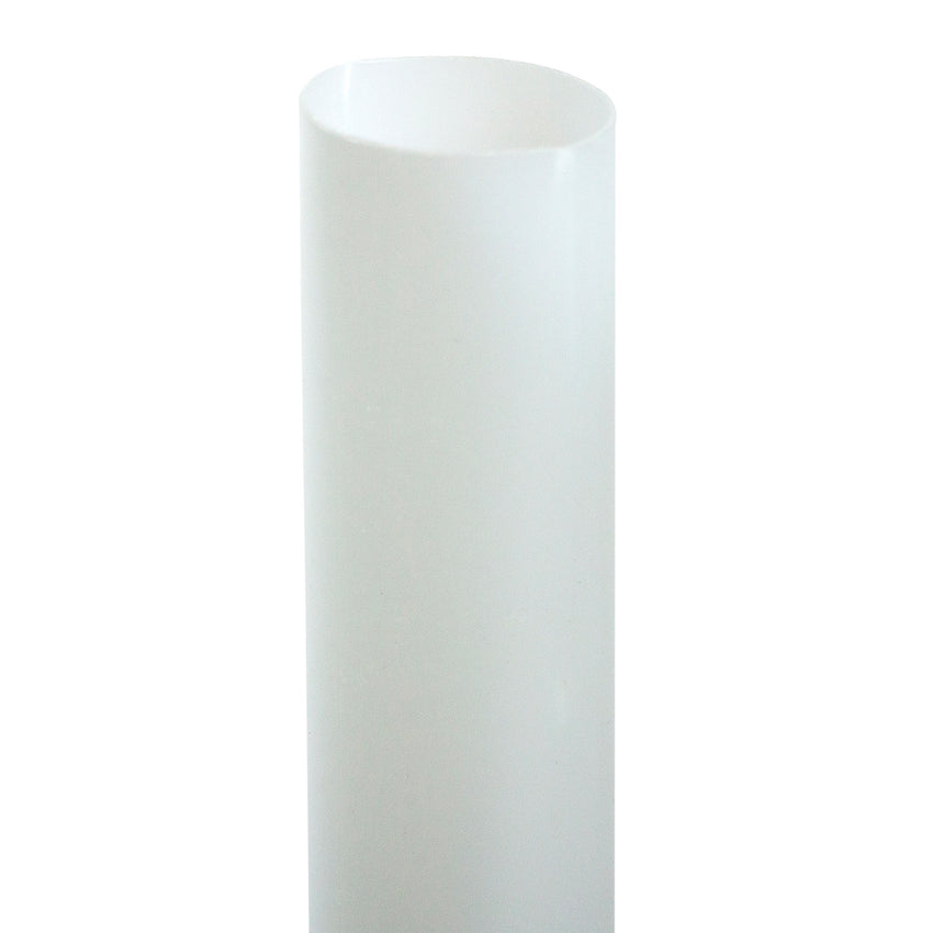 "7.75"" Jumbo Clear Paper Wrapped PLA Straw - Close Up"