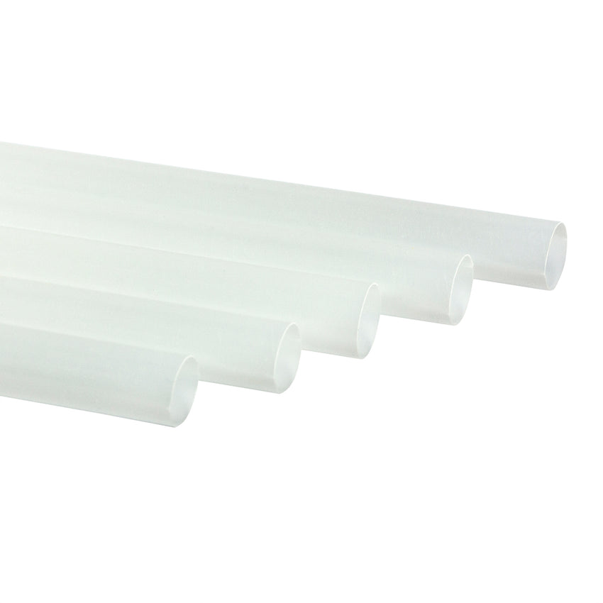 "7.75"" Jumbo Clear Paper Wrapped PLA Straws"