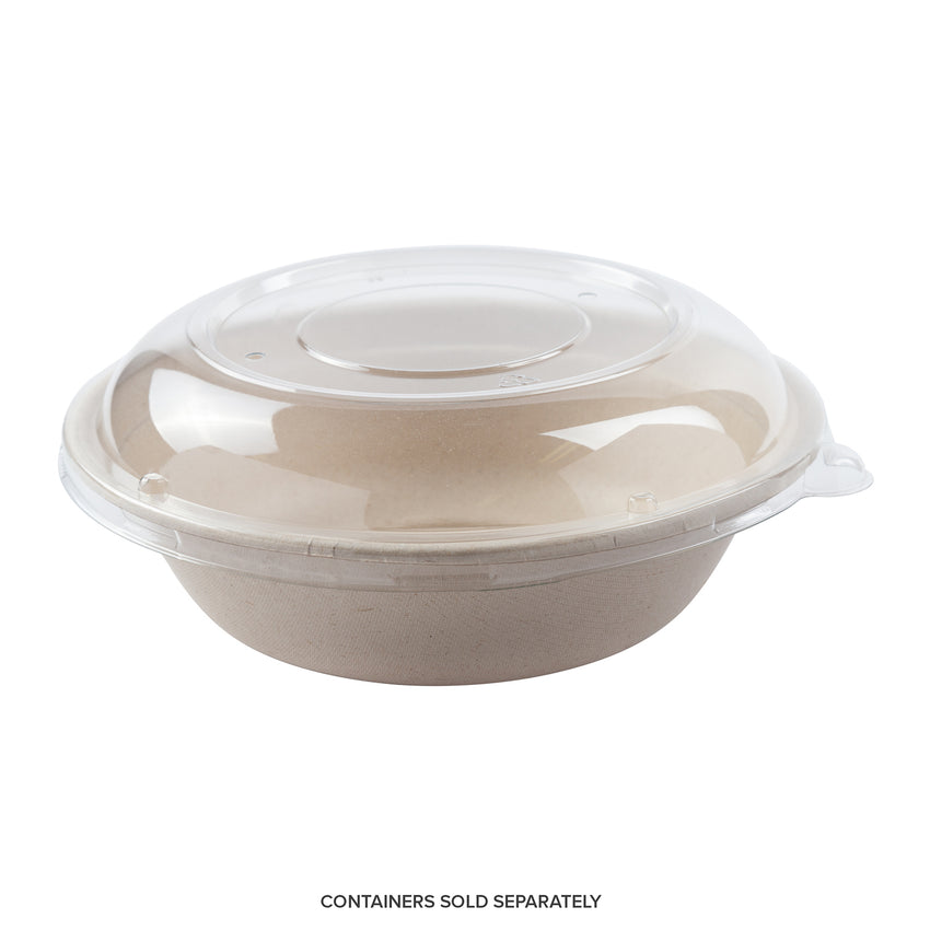 PET Lid with 32 oz.Tan Bowl