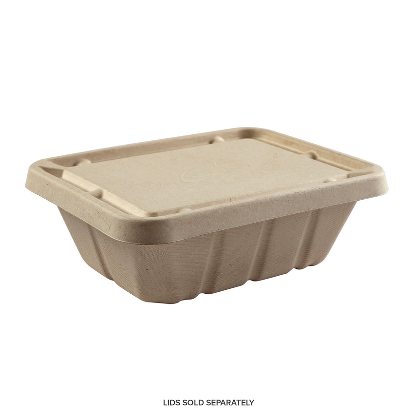 "7 x 9 x 3.125"" Deep Tan Tub - Lid Sold Separately"