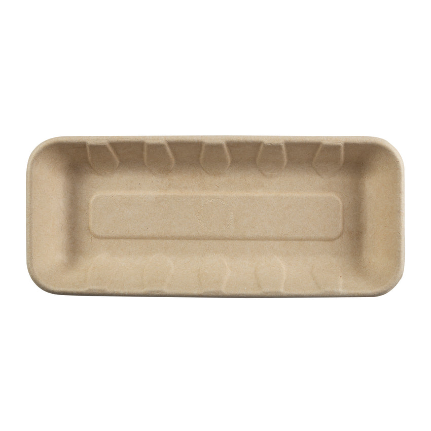 "10 x 4.25 x 1"" Molded Fiber Mini Tray"