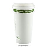 W-HC-20 - 20 oz. White Compostable Cup PLA Lined Sample